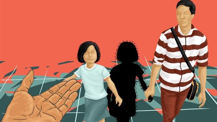 Ilustrasi penculikan anak