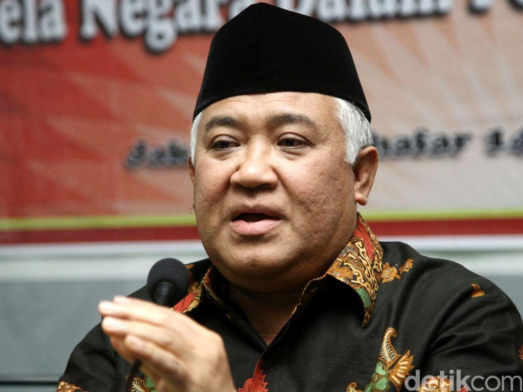 PA Jaksel: Din Syamsuddin Tak Hadir Sidang Cerai, Gugatan Diputus Verstek