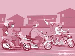 5 Begal di Kota Bandung Rampas Motor dan Aniaya Warga
