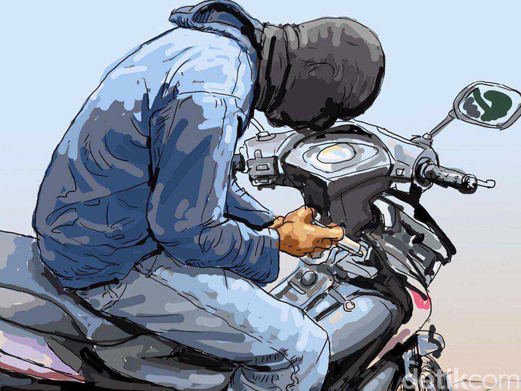 Kepergok Curi Motor, Pria di Kebon Jeruk Ditangkap
