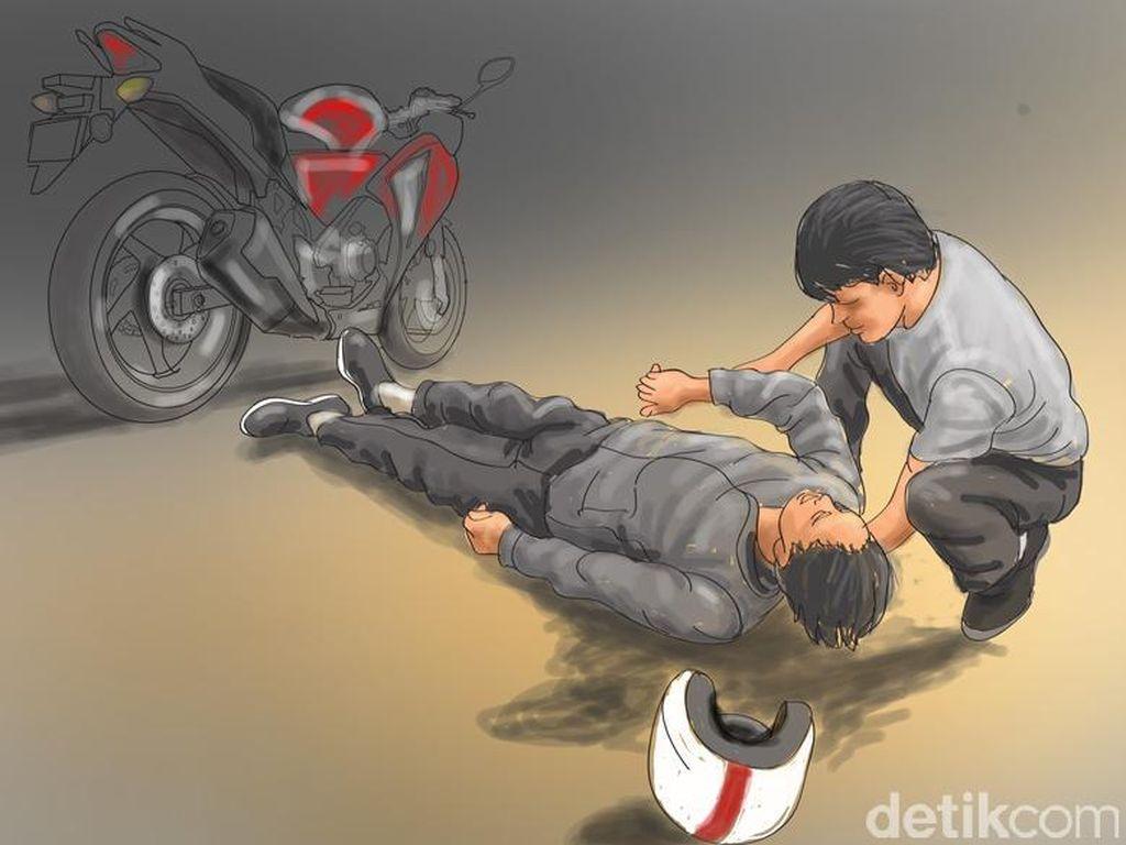 Pengemudi dan Penumpang Motor Tewas Terlindas Mobil di Bandung