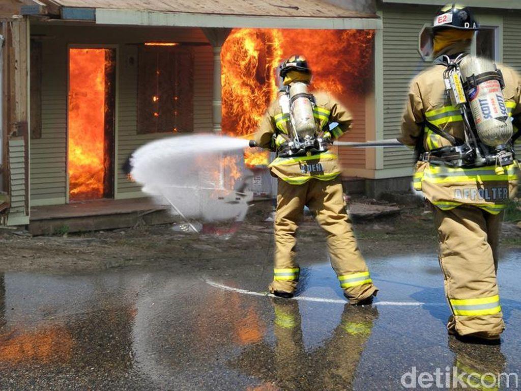 Dua Petugas Damkar Luka Bakar dalam Kebakaran Taman Kota