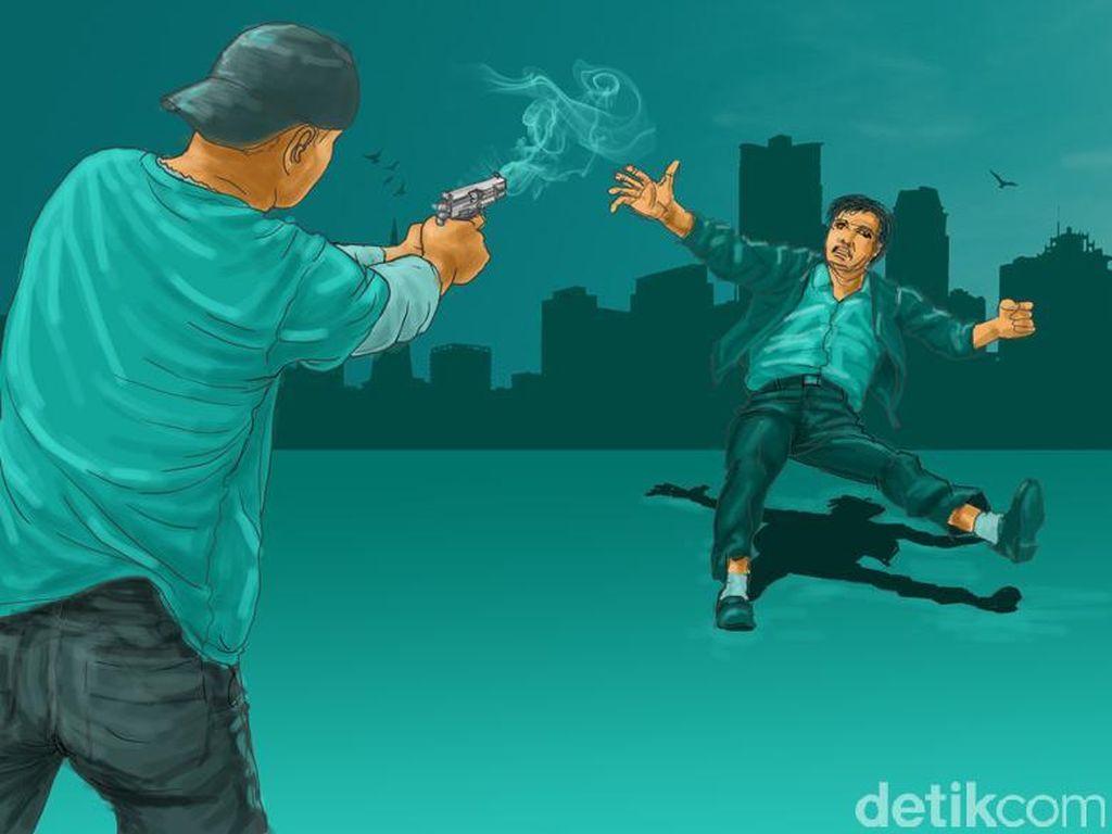 Diberondong Tembakan, Pedagang Kopi Diduga jadi Korban Salah Sasaran