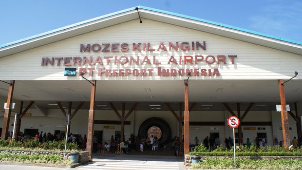 Pesawat pengangkut beras itu berangkat dari Bandara Mozes Kilangin di Tembagapura, Timika, untuk menuju Ilaga, Papua.
