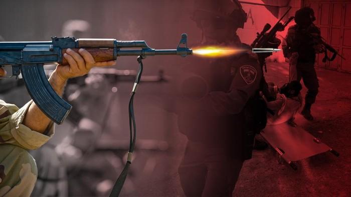 Ilustrasi penembakan tentara Israel