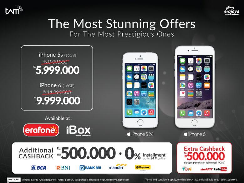 Harga iPhone akhir tahun Erafone dan iBox turun harga