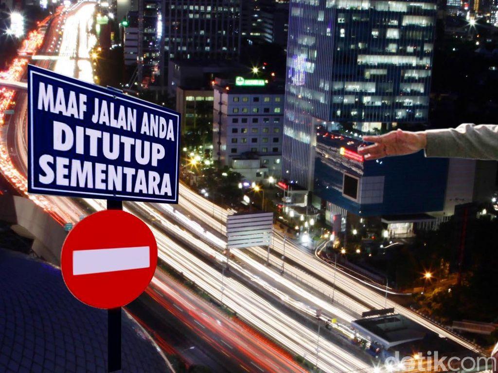 Jalan Sudirman-Hayam Wuruk Ditutup, Ini Rute Alternatifnya