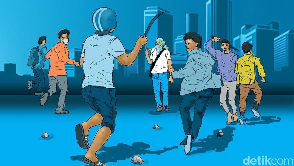 Bawa Sajam Untuk Tawuran, Belasan Pelajar di Sukabumi Ditangkap