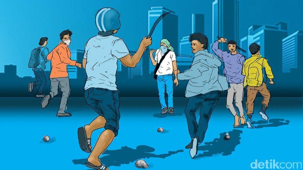 Bawa Parang, 15 Bocah SD Purwakarta Tepergok Hendak Tawuran