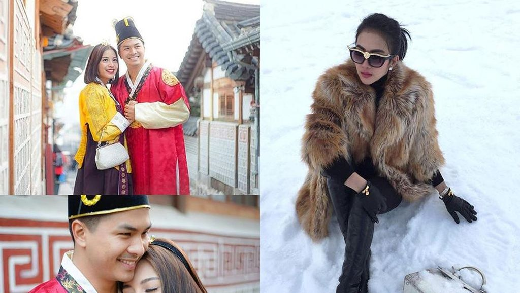 Chelsea dan Glenn Bak Ratu dan Raja di Korea, Pose Syahrini di Salju