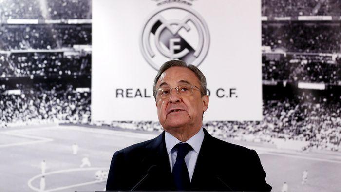 Presiden Real Madrid Florentino Perez (Foto: Pool)