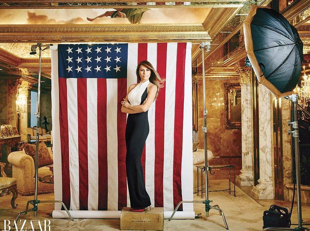 Melanie Trump Tampil Glamour di Kediamannya dalam Pemotretan Majalah