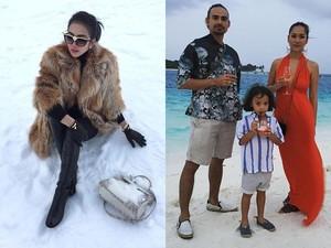 10 Foto Terheboh: Pose Syahrini di Salju, BCL Liburan di Maladewa
