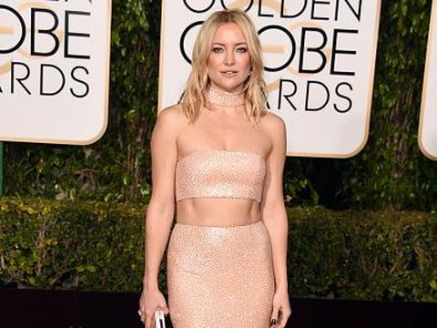 BEVERLY HILLS, CA - JANUARY 10:  Actress Kate Hudson attends the 73rd Annual Golden Globe Awards held at the Beverly Hilton Hotel on January 10, 2016 in Beverly Hills, California.  (Photo by Jason Merritt/Getty Images)