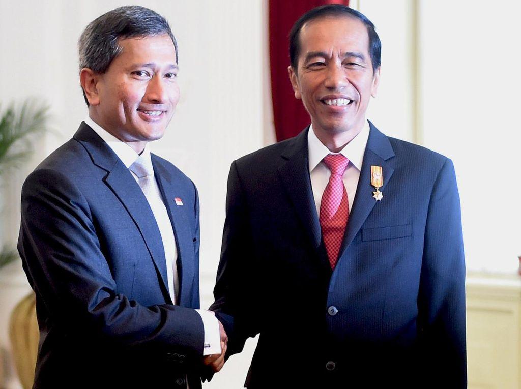 Menlu Singapura Temui Presiden Jokowi