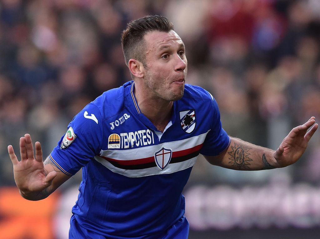 Cassano Dipersilakan Angkat Kaki dari Sampdoria