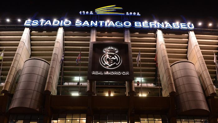 MADRID, SPAIN - FEBRUARY 13:  A general view of the outside of the  Estadio Santiago Bernabeu ahead of the UEFA Champions League Round of 16 first leg match between Real Madrid and Manchester United at Estadio Santiago Bernabeu on February 13, 2013 in Madrid, Spain.  (Photo by Mike Hewitt/Getty Images)