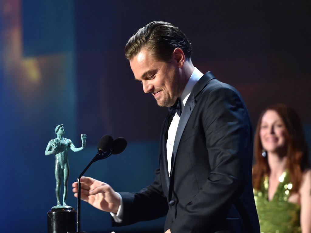 Leonardo Di Caprio dan Brie Larson Aktor Aktris Terbaik SAG Awards