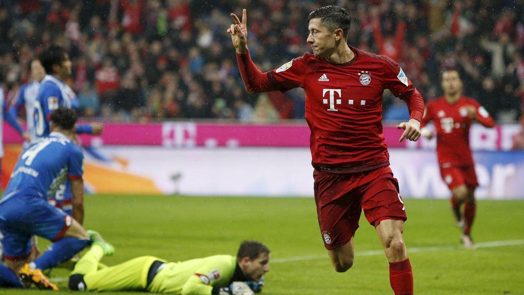 Lewandowski Dua Gol, Bayern Tekuk Hoffenheim dan Kokoh di Puncak