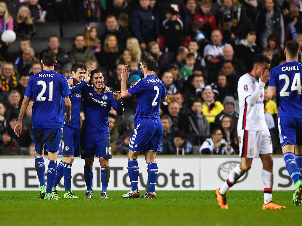 Oscar Hat-trick, Chelsea Gilas MK Dons 5-1