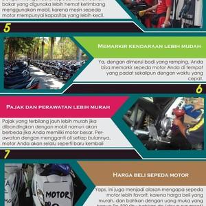 7 Alasan Memilih Sepeda Motor Sebagai Transportasi Harian