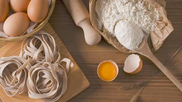 Ilustrasi Bahan Pembuatan Pasta