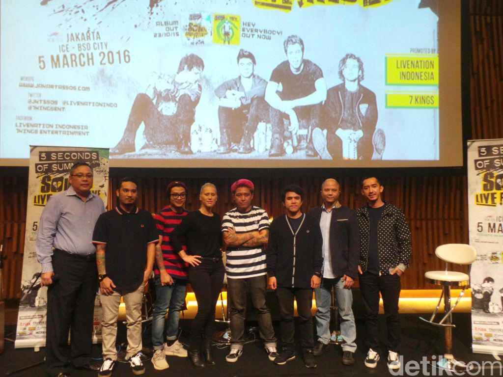 Pee Wee Gaskins Akan Buka Konser 5 Seconds of Summer di Indonesia