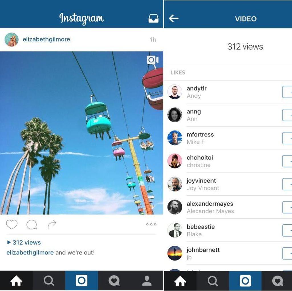 Instagram Rilis Penghitung Video