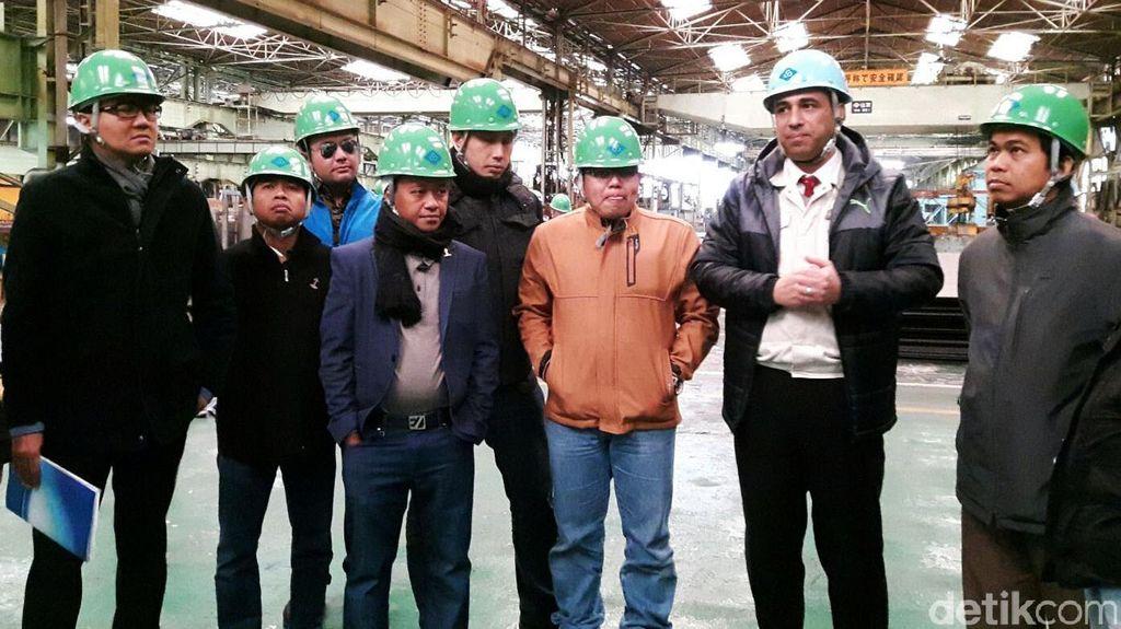 Ketum Hipmi Kunjungi Galangan Kapal Shin Kurusima Dockyard