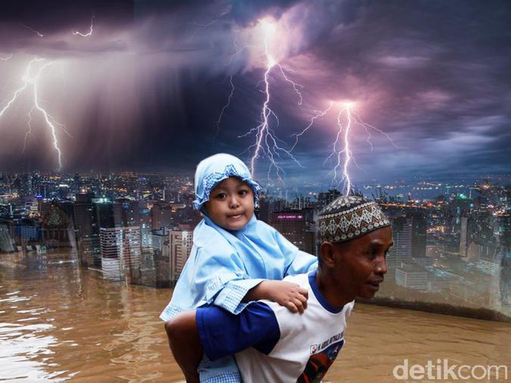 Jakarta Diguyur Hujan Deras, Waspadai Angin dan Petir