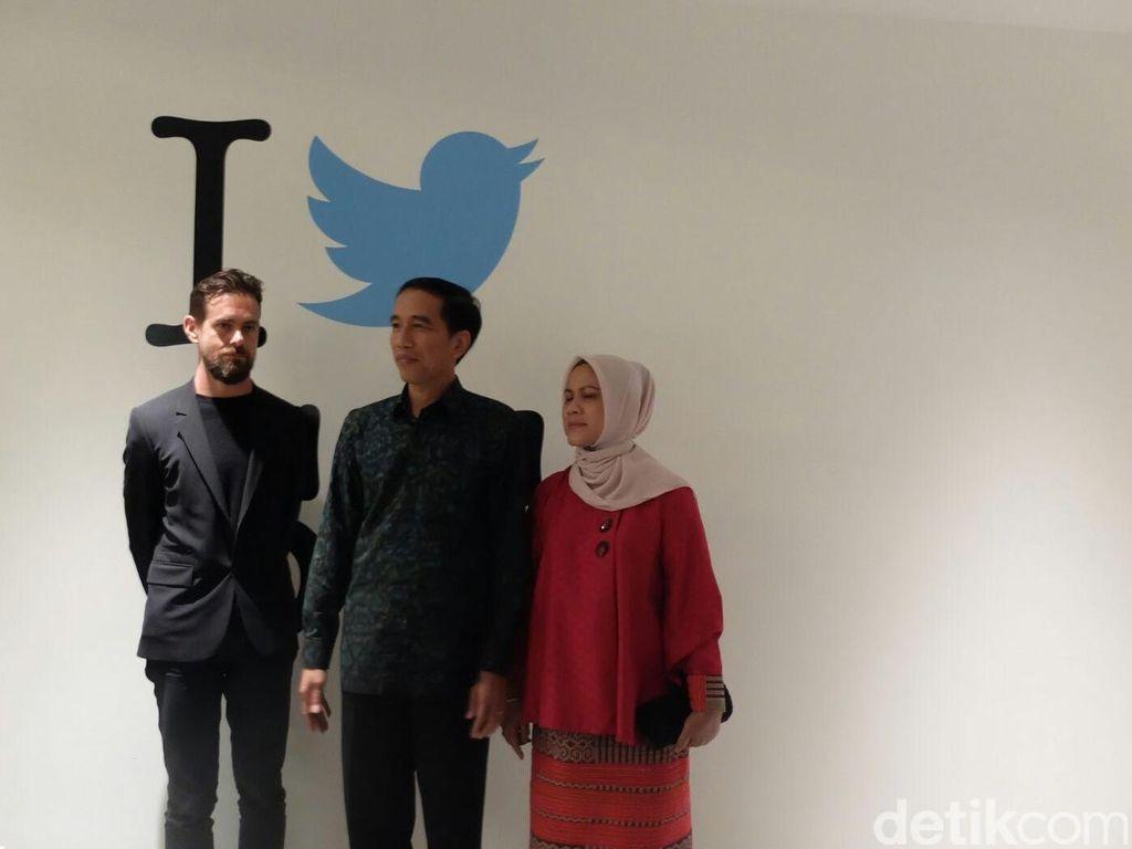 Tiba di Markas Twitter, Jokowi Langsung Siaran Lewat Periscope