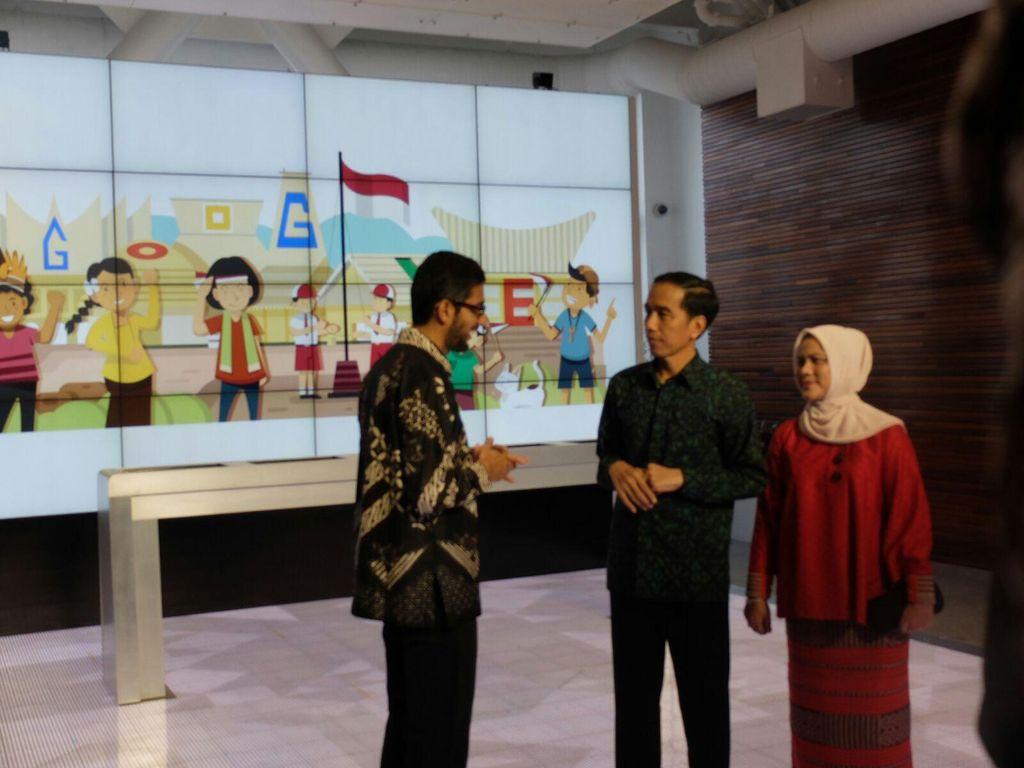 Ketika Jokowi Ditanya Soal Google Maps