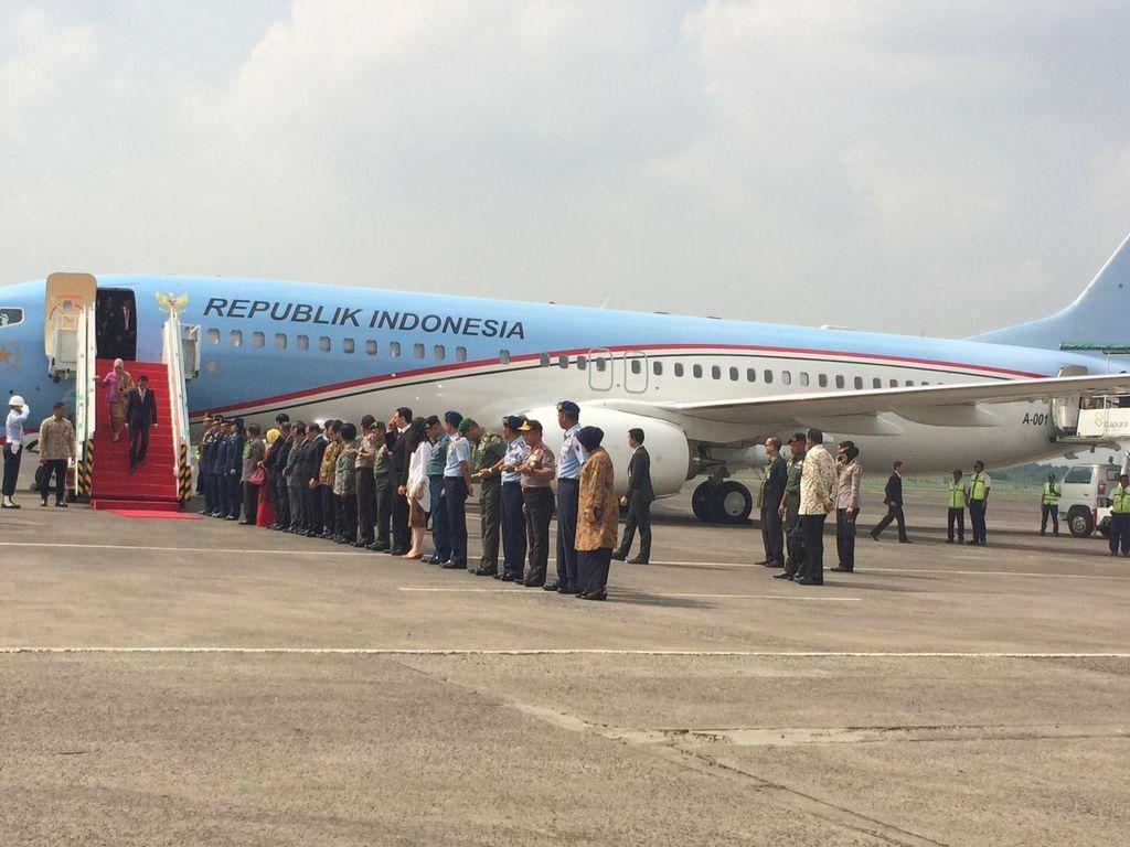 Presiden Jokowi Tiba di Tanah Air Usai Kunjungan ke AS