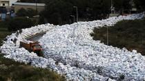 Penampakan Tumpukan Sampah di Lebanon