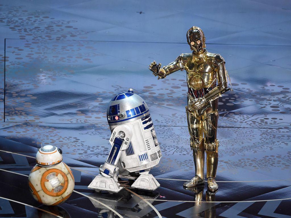 Gemes! Penampilan BB-8 dari Star Wars Menggelinding Di Panggung Oscar