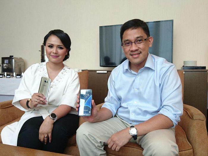 (ki-ka): Vebbyna Kaunang dan Denny Galant (Foto: detikINET/Ardhi Suryadhi)