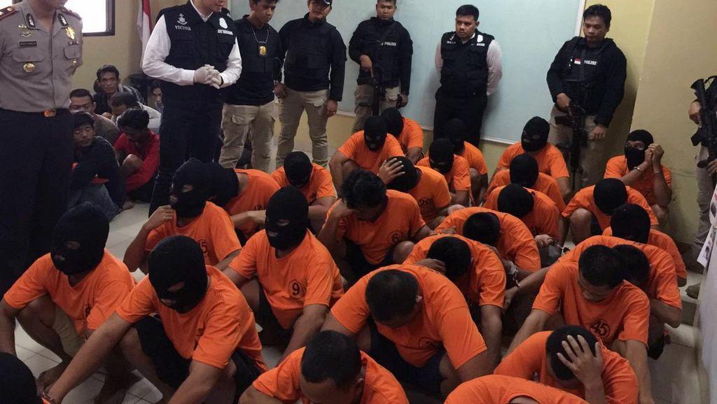 Polisi Tangkap Puluhan Preman