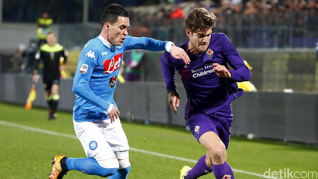 Fiorentina vs Napoli Berakhir Imbang