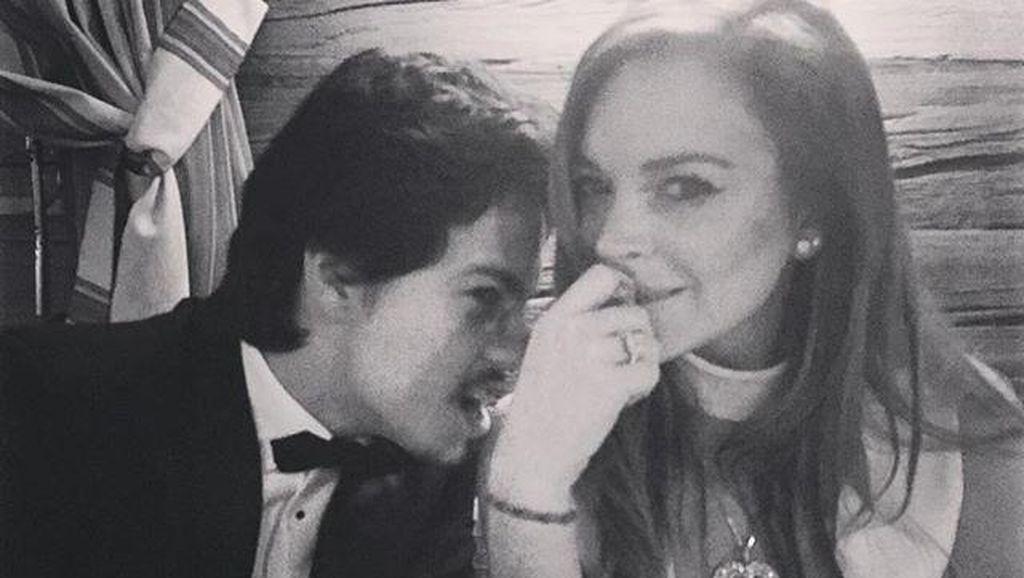 Video Dikasari Tunangan Beredar, Ini Kata Lindsay Lohan