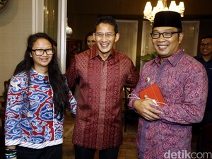 Ridwan Kamil Saling Salip dengan Sandiaga Uno di Survei Capres 2024