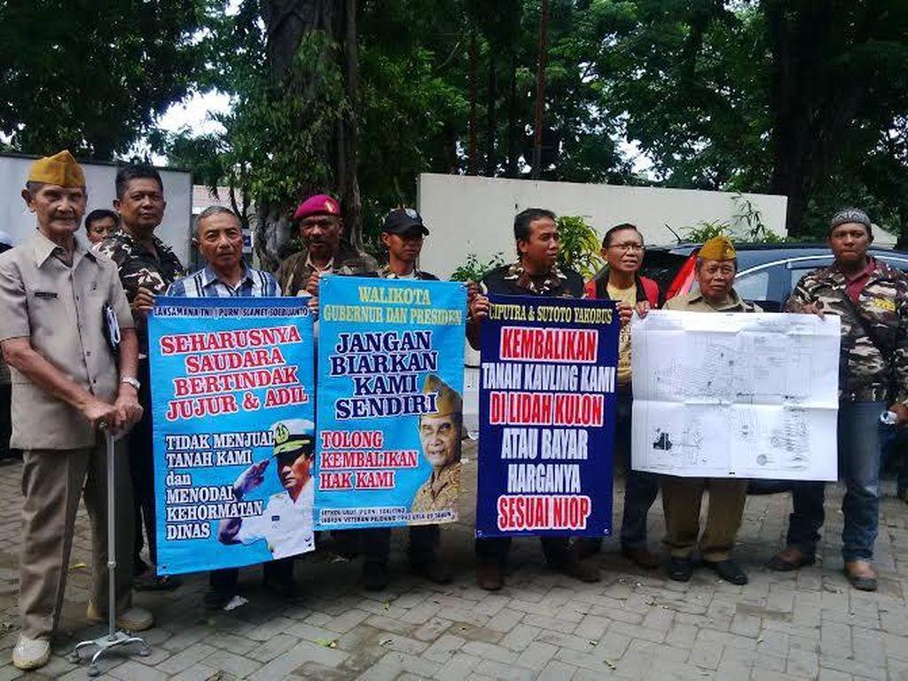 Purnawirawan Tentara Demo, Tuntut Tanah yang Diserobot Dikembalikan