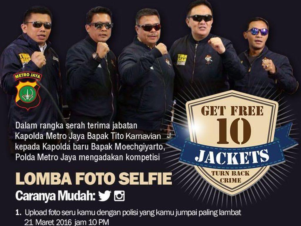 Pisah-Sambut Kapolda, Polda Metro Gelar Lomba Selfie Bareng Polisi