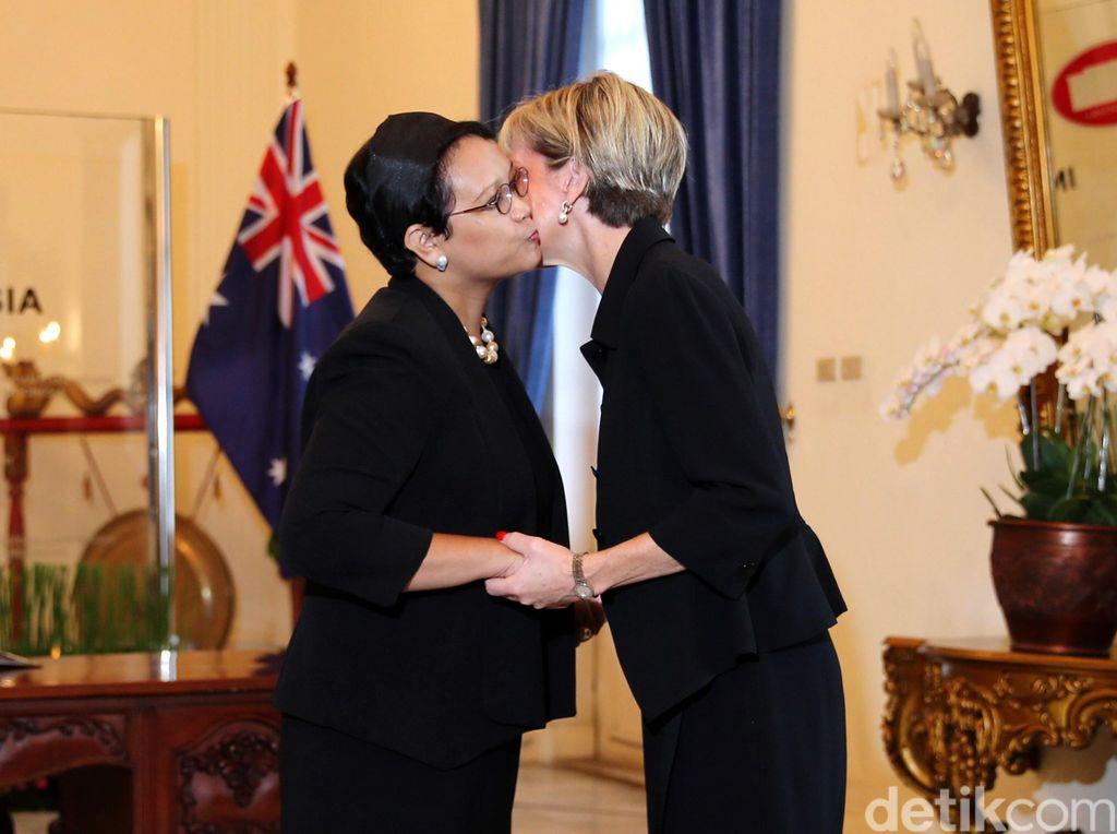 Menlu Retno Sambut Hangat Menlu Australia