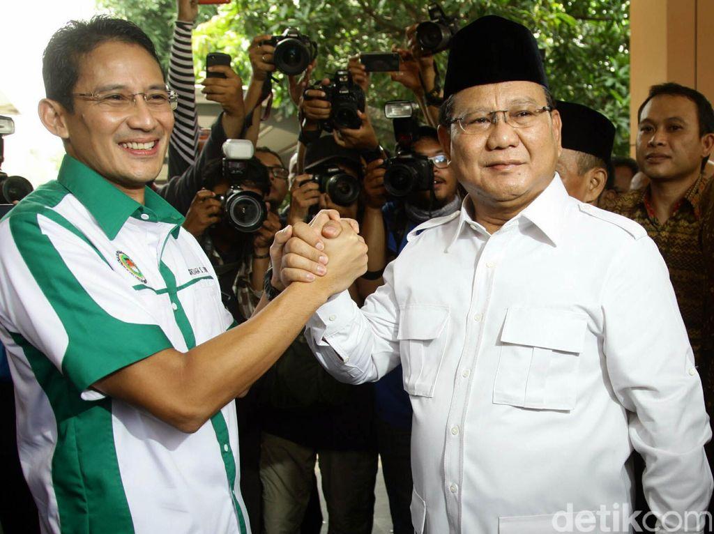 Prabowo dan Sandiaga Hadiri Open House di Rumah Ical