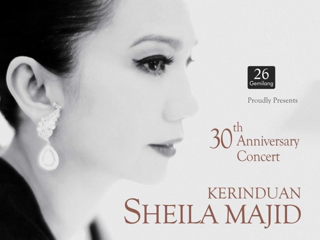 Tiket Konser Kerinduan Sheila Majid Dijual Mulai Rp 350 Ribu