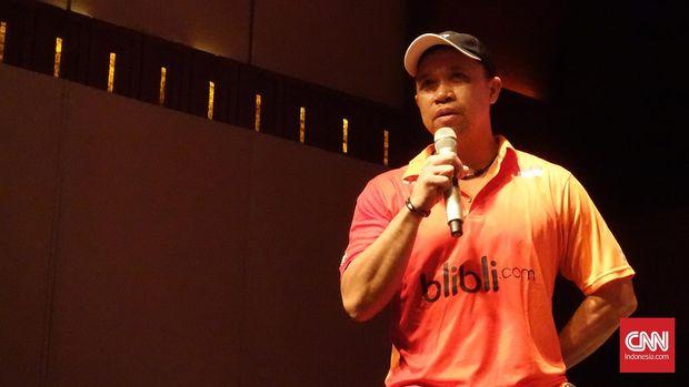 Pelatih ganda campuran Indonesia, Richard Mainaky. (CNN Indonesia/Arby Rahmat Putratama)