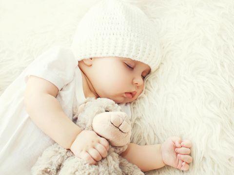 Ilustrasi bayi tidur/