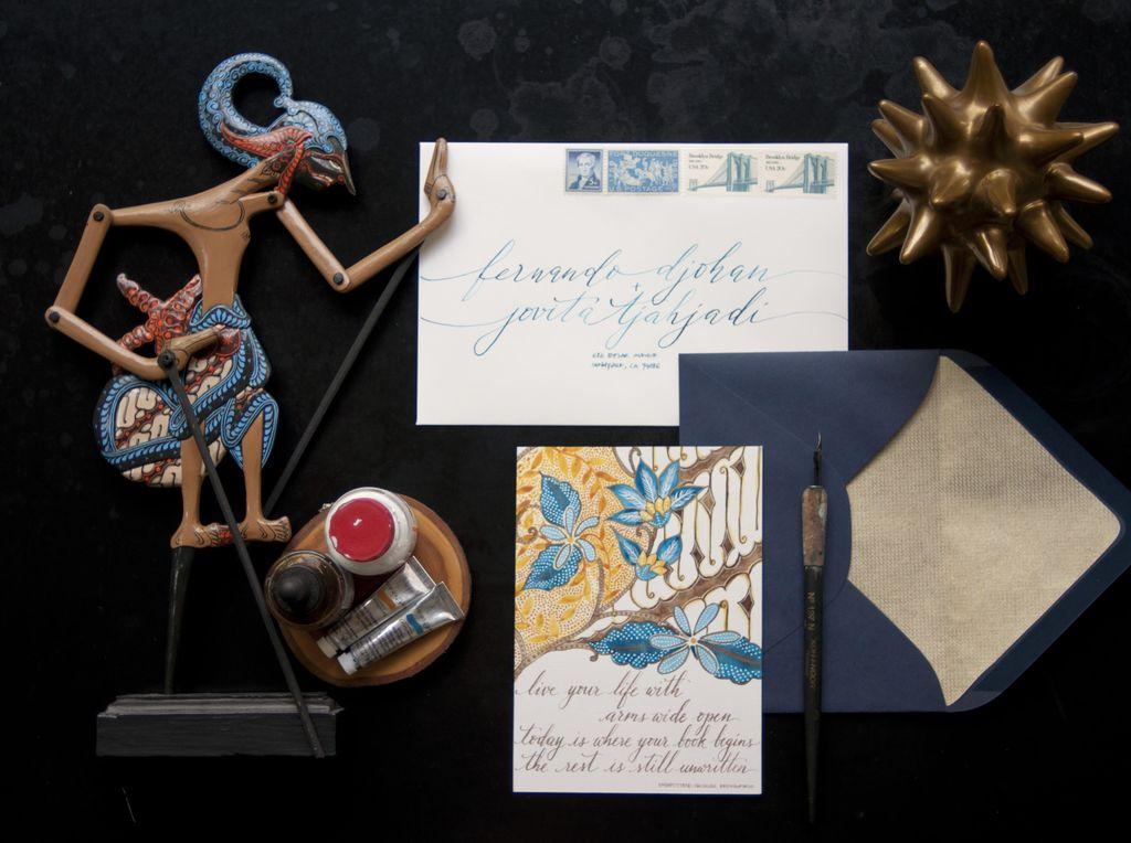 Tren Seni Kaligrafi untuk Kartu Undangan Pernikahan