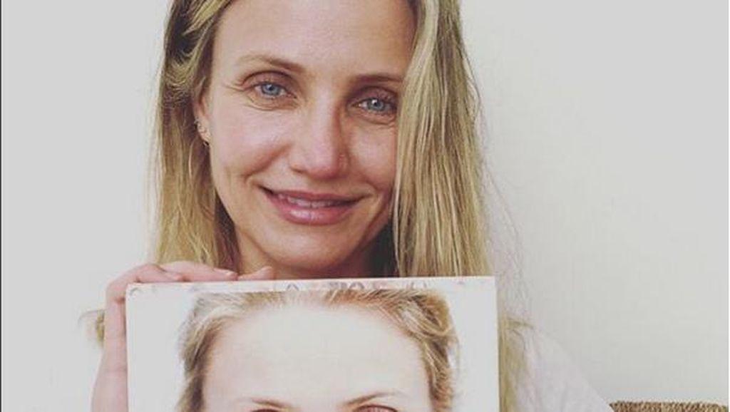Promosi Buku Terbaru, Cameron Diaz Pamer Selfie Wajah Berkeriput