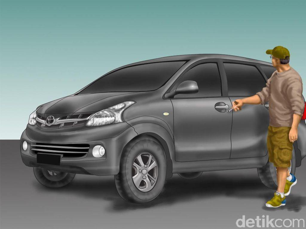 Pria Ini Gagal Curi Spion Mobil di Tambora Gegara Alarm Bunyi